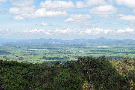 Scenic mountain landscapes against sky in rural Kenya, Naivasha