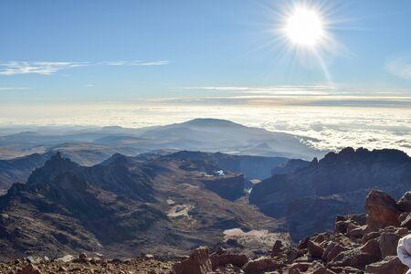 Scenic mountains against sky, Mount Kenya