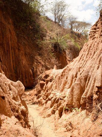 Scenic gorges in rural Kenya, Makueni County