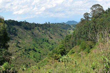 Scenic mountain landscapes in rural Kenya, Aberdare Ranges