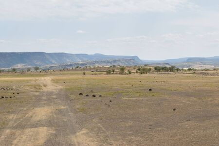 Scenic landscapes against sky, Lake Magadi, Kenya Stock Photo