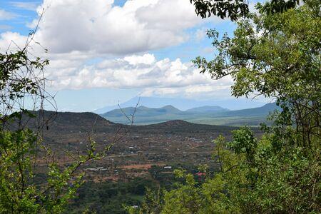 Scenic mountains against sky, Namanga Hills, KENYA