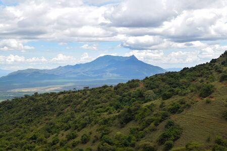 Scenic mountain landscapes against sky, Mount Longido in Tanzania