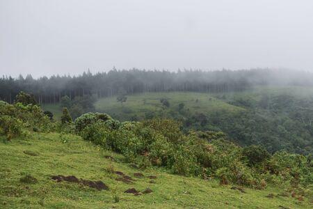 Scenic mountain landscapes against sky, Aberdare Ranges, Kenya