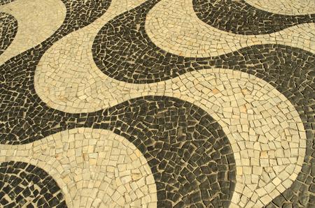 oscar niemeyer: Typical sidewalk of Rio de Janeiro designed by Oscar Niemeyer
