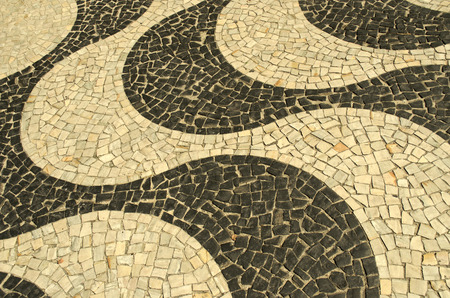 appoints: Typical sidewalk of Rio de Janeiro designed by Oscar Niemeyer