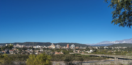 view of the city of San Salvador de Jujuy, capital of Jujuy province, northwestern Argentina