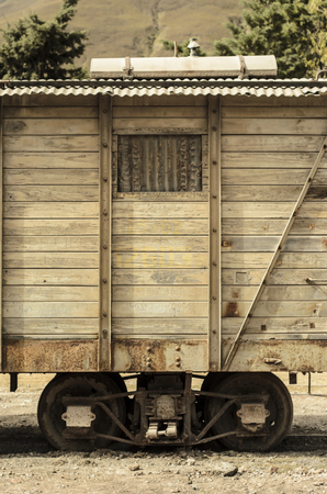 carreta madera: Detail of an old wooden wagon train