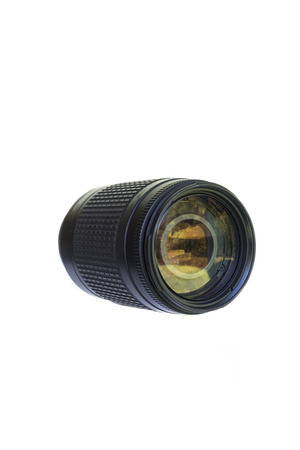 front view of a lens 70 300 isolated on white background Stock Photo