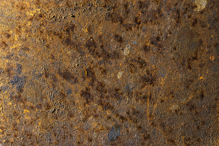 occupying: very rusty metal plate occupying the entire picture Stock Photo