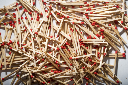 combustible: many matches interspersed occupying the whole picture