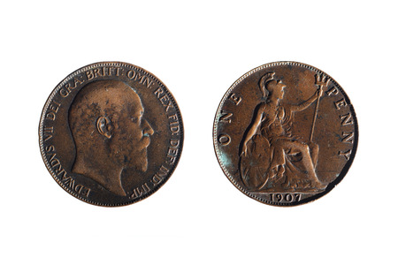 front and back of an old penny
