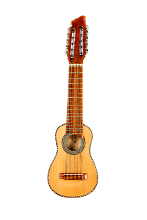 fingerboard: Charango, typical instrument of the Andean Inca zone, isolated on white background