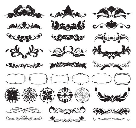 graphic decorative elements for frames, Calligraphic Elegant swirl Ilustrace