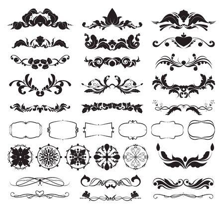 graphic decorative elements for frames, Calligraphic Elegant swirl Illustration