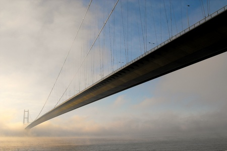 yorkshire and humber: Humber Bridge in mist