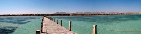 sharm: Jetty at Sharm Stock Photo