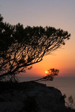 Sunset in Purtas del Cielo, Ibiza, Islas Baleares, Spain