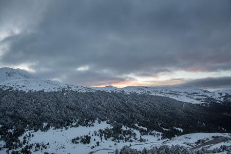 Clouddy Day in Grau Roig, Encamp, Andorra Banque d'images