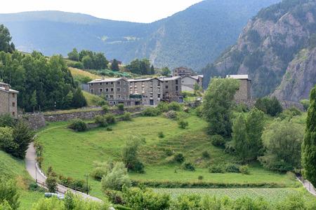 Cityscape of Canillo, Andorra Фото со стока
