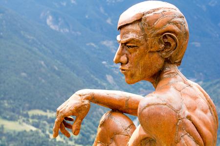 Canillo, Andorra. OCTOBER 15 2016: Mir del Roc del Quer in Canillo, Andorra