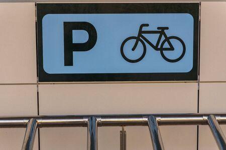Ibiza, Spain : 2019 November 04 : Bike Parking Ibiza international airport plateaux with extremely dramatic baclight, Ibiza, balearic island 스톡 콘텐츠