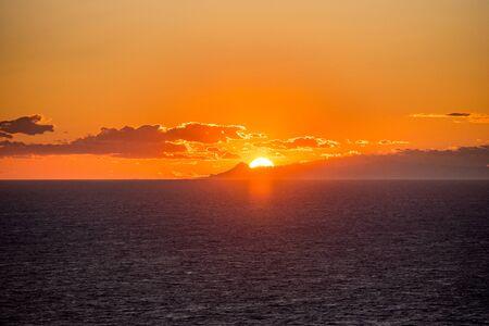 Sunset in Purtas del Cielo, Ibiza, Islas Baleares, Spain Banque d'images - 134804006