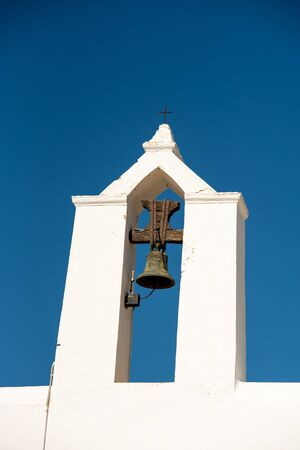 Old White Church of Santa Anges de la Corona, Ibiza, Spain. Banque d'images - 134804180
