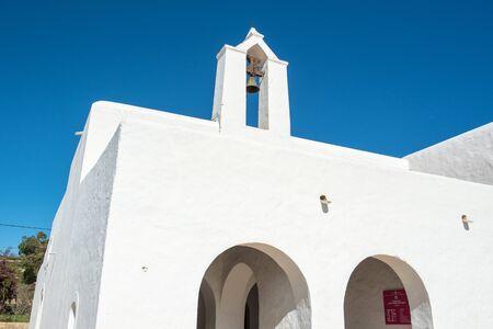 Old White Church of Santa Anges de la Corona, Ibiza, Spain.