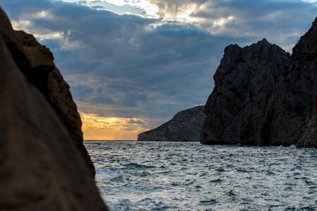 Sa pedrera de Cala de Hort, Atlantis at late afternoon