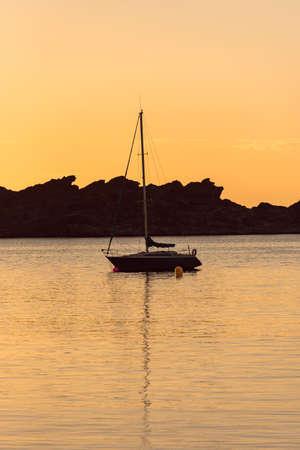 Sunset in Port Lligat in Cala Salvador Dali, In Girona, Spain Banque d'images
