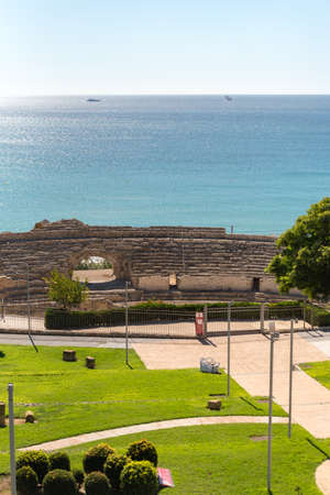 Tarragona, Spain: 2020 September 27: Sunny day in Tarragona Amphitheater in Spain