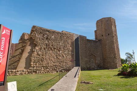 Tarragona, Spain: 2020 September 27: Sunny day in Tarragona Circ Romano in Spain Editorial