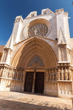 Tarragona, Spain: 2020 September 27: Sunny day in the cathedral of Tarragona in Spain, in the summer of 2020. Editorial