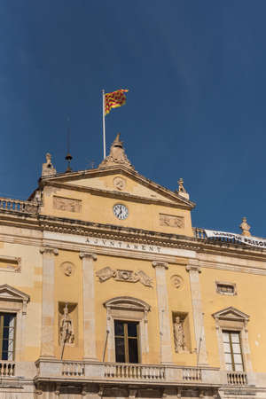 Tarragona, Spain: 2020 September 27: Sunny day in the Tarragona City Council in Spain, in the summer of 2020. Editorial