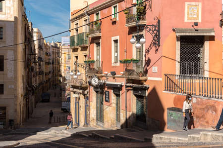 Tarragona, Spain: 2020 September 27: Sunny day in Tarragona old Town in Spain