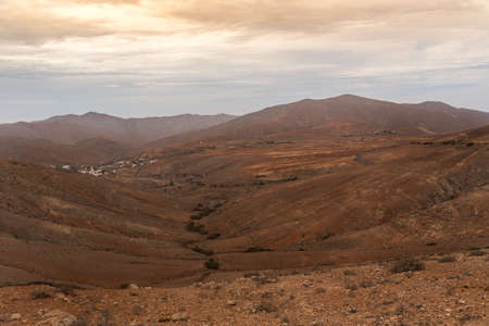 View of the Valley in Bentancuria on the island of Fuerteventura in Spain.
