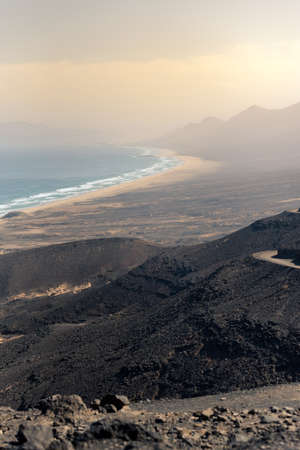 Landscape of the Cofete Beaches in Fuerteventura, Spain. Reklamní fotografie