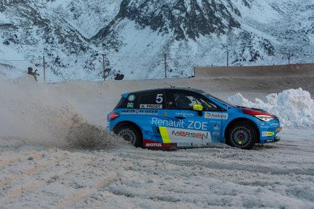Pas de la Casa, Andorra - December 19 2020: French driver N. Prost in the race in the eTrophee Andros, on Dec 19, 2020 in Andorra. Sajtókép
