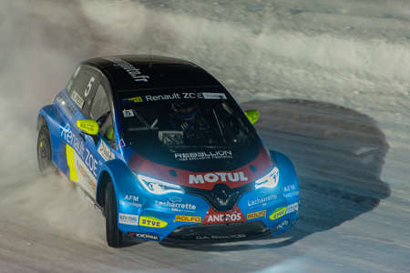 Pas de la Casa, Andorra - December 19 2020: French driver N. Prost in the race in the eTrophee Andros, on Dec 19, 2020 in Andorra.