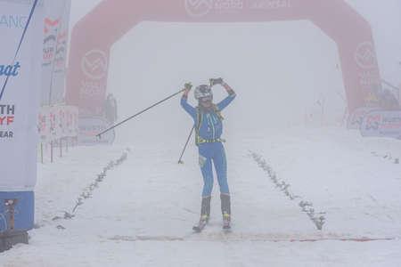 Arinsal, Andorra: 2021 March 6: DE SILVESTRO Alba ITA in ISMF WC Comapedrosa 2021 Andorra. Individual Race Woman
