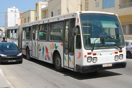 Bus drifing in the arabic country Stock Photo - 12339334