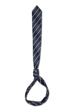 Tie used as a hanging noose