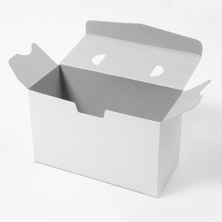Empty white box on the white background