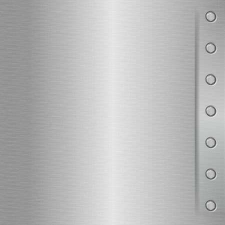 shiney: Shiny metal plate - brushed aluminium effect with bolts on the right side