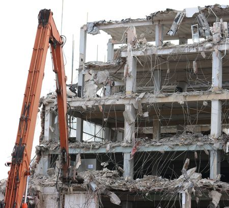An office block being brought down Stock Photo - 1296850