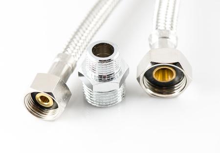 elasticidad: tubería industrial elástico de metal fibra de agua con conectores