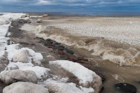 ice blocks: frozen ice blocks in the sea