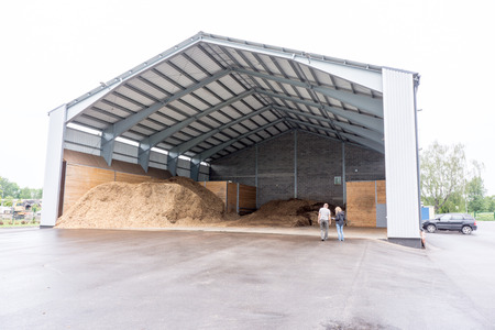 storage units: industrial site with steel storage units for heating