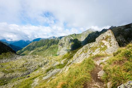 Beautiful rocky view in Fagaraš mountains in Southern Carpathians, Romania Stock Photo